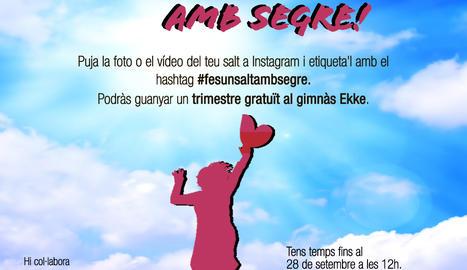 El concurs #fesunsaltambsegre s'ha portat a terme a través d'Instagram