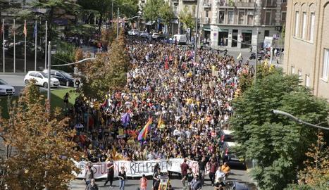 La manifestació d'estudiants ha reunit unes 2.000 persones.