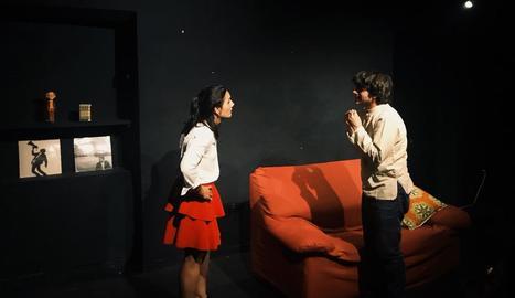 Imatge d'una de les funcions de l'obra 'L'Escollit' de la companyia LaDonaBarbuda.