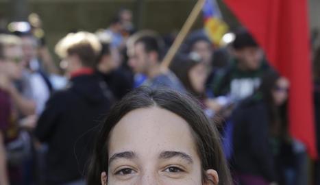 La marxa va arrancar davant del Rectorat de la UdL i es van manifestar més de 2.000 joves.