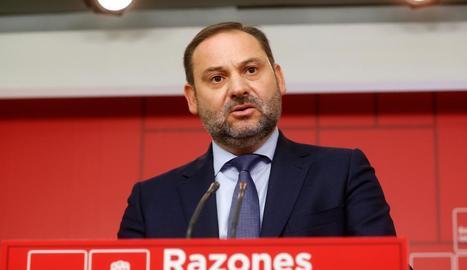 El ministre de Foment, José Luis Ábalos, va minimitzar el missatge de Quim Torra als CDR.