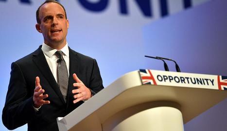 El ministre britànic per al Brexit, Dominic Raab, a Birmingham.