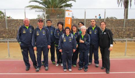 A la imatge, els esportistes del Club L'Estel que competiran als Jocs.