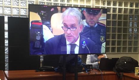 Fernando Blanco, en un moment de la seua declaració.