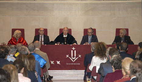 Sebastià Serrano va pronunciar ahir la conferència inaugural del curs de la UdL.