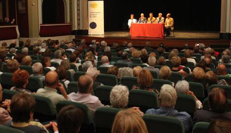 Un moment de la inauguració del nou curs escolar, ahir al Teatre Ateneu.