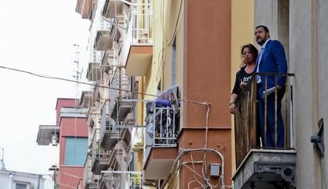 El ministre de l'Interior, Matteo Salvini, ahir, a Nàpols.