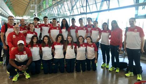 El lleidatà Arnau Erta, amb Espanya als Jocs de la Joventut.