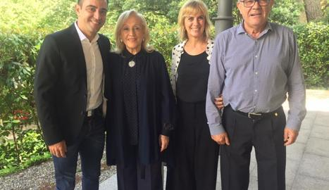 Xavi Hernández i els seus pares
