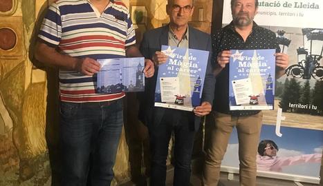 Presentació del cartell de la Montgai Màgic 2018, ahir a la Diputació de Lleida.