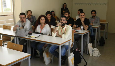 Participants ahir en una de les sessions del congrés a la UdL.