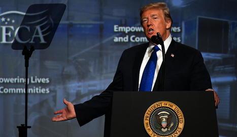El president nord-americà, Donald Trump, ahir a Filadèlfia.