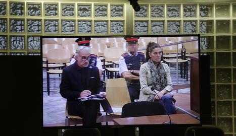 Fernando Blanco i Margarita Garau aquest dijous a l'Audiència de Lleida.