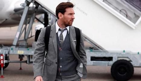 Messi, estilós en la manera de vestir.