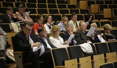 Alguns dels assistents, ahir, al congrés sobre Plutarc.