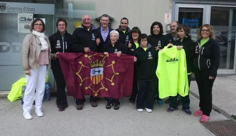 Els representants d'Aspros que participen als Special Olympics durant aquest cap de setmana.