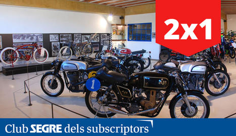 Interior del Museu de la Moto de Bassella a l'Alt Urgell.