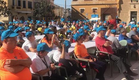 Imatge ahir dels participants a la segona jornada de Montgai Màgic.