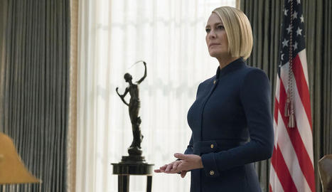 L'actriu nord-americana Robin Wright interpreta Claire Underwood, la presidenta dels Estats Units.