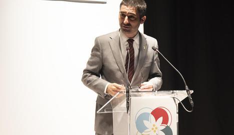 El conseller Puigneró, ahir durant les jornades d'Esterri d'Àneu.