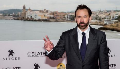 Nicolas Cage, ahir a Sitges, va negar l'acusació de violació.