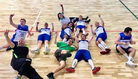 L'equip de bàsquet d'Asvolcall Down Lleida, campió a la seua categoria.