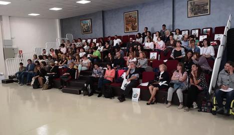 Vista del públic a la jornada celebrada ahir.