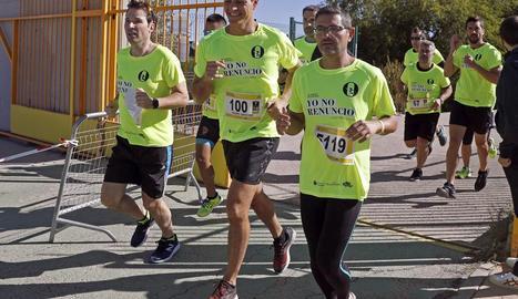 Pedro Sánchez va participar ahir en una cursa popular a Madrid.