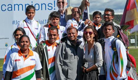Equip de bàdminton de l'Índia.