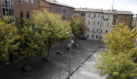 Els menors viuen en pisos del Grup el Pla, a la plaça dels Gramàtics.