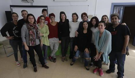 Alumnes del curs per a la promoció per la igualtat efectiva de dones i homes, ahir.