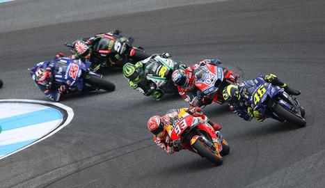 Marc Màrquez va sumar al Gran Premi de Tailàndia el setè triomf de la temporada.
