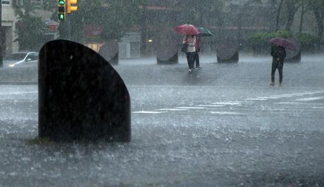 Pluja torrencial aquest dimarts a Barcelona