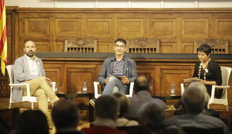 Marcel Mauri i Eunice Romero van debatre sobre la cohesió a l'IEI moderats per Jordi Coiduras.