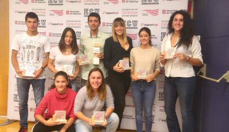 Vuit esportistes de la UdL, premiats a nivell de Catalunya