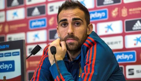 Paco Alcácer, ahir a la compareixença davant la premsa.