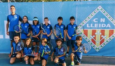 Equip del CN Lleida que participa en la Lliga McDonald's de tenis.