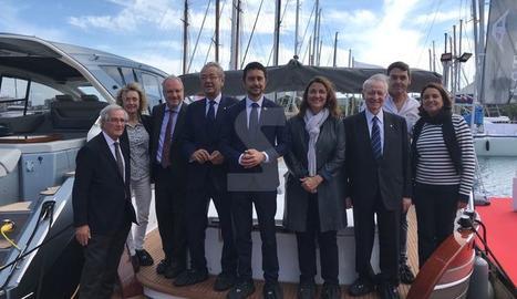 El conseller Calvet ha inaugurat el Saló Nàutic de Barcelona.