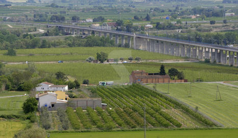 Una vista de l'Horta de Lleida.