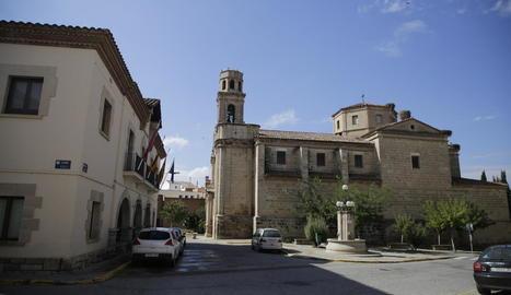 El centre històric que l'ajuntament preveu convertir en zona de vianants a principis d'any.
