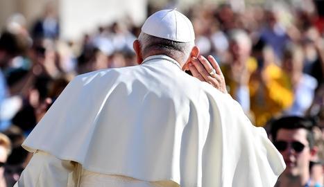 El papa Francesc, ahir, durant l'audiència setmanal al Vaticà.