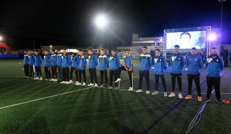 A la imatge, un dels 36 equips que aquest any té en competició el club del Secà.
