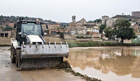 Les Oluges, a la Segarra, aquest dilluns al matí.