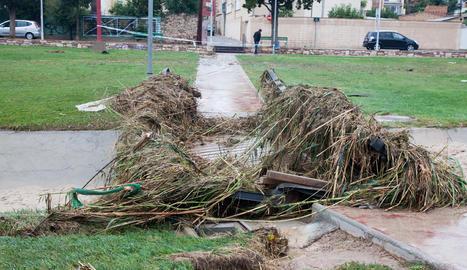 Imágenes del temporal de lluvia en las comarcas de Lleida
