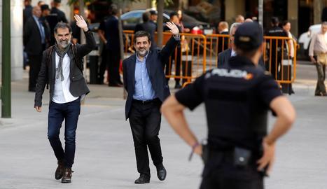 Jordi Sànchez i Jordi Cui