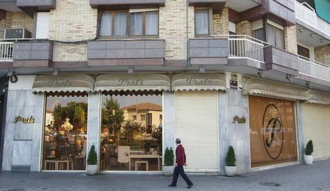 Imatge de la pastisseria Prats ahir. Tancarà les portes el 4 de novembre.