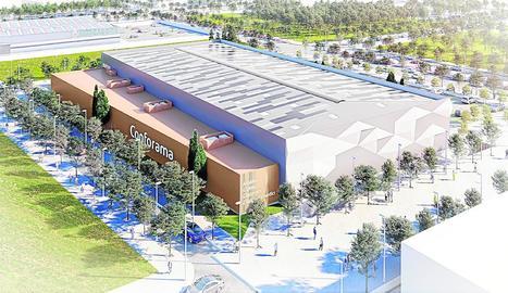 Imatge virtual de l'establiment que Conforama vol obrir a la zona d'expanxión de Copa d'Or.