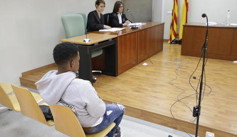 L'acusat, ahir durant la celebració del judici a Lleida.