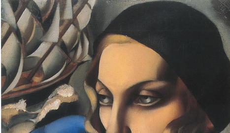 L'écharpe bleue. 1930. Oli sobre tela, 56,5 x 48  cm. Col·lecció privada. © Tamara Art Heritage.