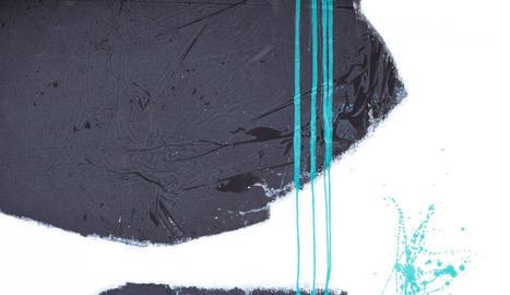 tècnica 'earth skin'. Fa el negre amb pigments naturals i pinta la part posterior dels quadres perquè traspassi i aparegui a la part davantera amb una textura particular, viva.